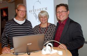 Olof Herko, Renate Tegethoff Jobs och Thomas Jacobs tror att en geopark ska locka turister till Siljansområdet.