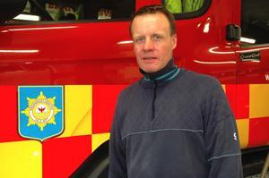 Stefan Wengelin är kårchef i Säter och jobbar till vardags på Säters ångsåg.