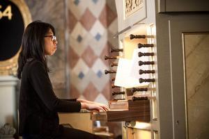 Masako Karlsson spelade både orgel och piano.