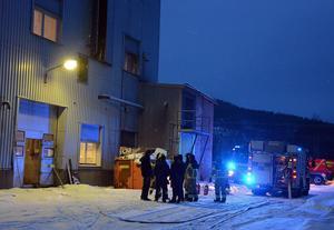 Det brann i kiselfabriken i Ljungaverk.