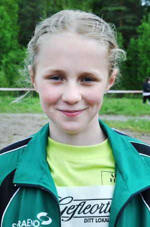 Ellen Lundqvist, 11 år, Älvboda friskola, klass 4– Vännerna runt omkring och väntan på att få börja tävla.