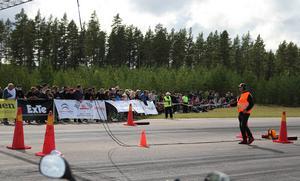 Arrangörerna ränknade med att det var mellan 400 och 500 besökare under lördagens tävlingar.