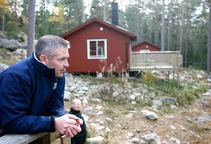 Skärgårdssamordnare Henrik Olsson leder arbetet i skärgården.Foto: Daniel Nilsson