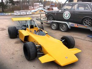 Med den här Formel 2-bilen av fabrikat GRD vann Reine Wisell loppet Eifelrennen på Nürburgring i Tyskland 1973. Björn Zetterman har renoverat bilen så att den är tävlingsduglig igen.