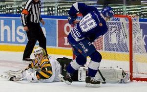 Här missar Matt Fornataro straffen som kostade 1–0. Foto: Claes Söderberg/DT
