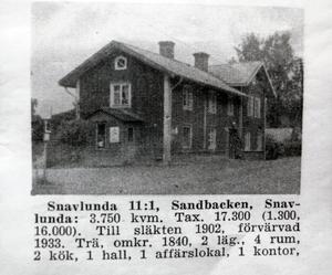 Så här såg huset ut en gång i tiden.