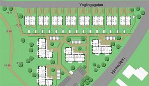 attraktivt läge. BJ Markbyggnads har sålt marken på den södra delen av Norra IP till Boklok Housing AB. Skanskaföretaget planerar att bygga 16 radhus och 24 lägenheter i triangeln mellan Ynglingagatan och Idrottsvägen.
