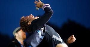 Sångaren Chris Martin under en spelning på Roskildefestivalen tidigare i sommar.