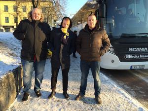 Daniel Vikström, Andreas Häggström och Fredrik Andersson.