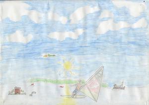 Surfare i Söderhamn. Av: Magnus Törmänen, Norrtullsskolan åk 6 klass612, Söderhamn. 1996.