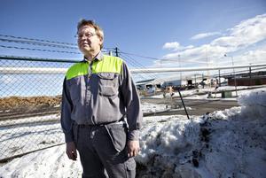 Curt Lindström, ordförande i fackklubben på sågverket.