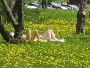 Det är skönt att slänga av sin kappa och lägga sig på gräset och slappa