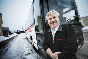 Busschauffören Kurt Hjalmarsson är en av finalisterna till Guldstjärnan 2014 för årets serviceperson. Arkivbild.