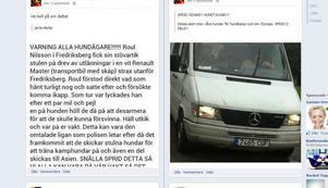 Flera varningar för hundtjuvar sprids nu på Facebook och andra sajter.