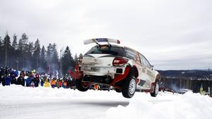 Robin Friberg blev sjua i WRC 2-klassen.