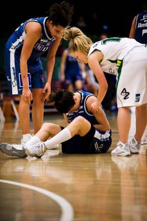 Amerikanskan Jill Noe ådrog sig en handledsskada i gårdagens match – oklart hur svår sådan.