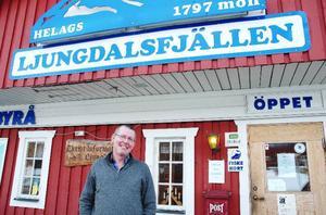 Under jul- och nyårshelgen ökade antalet övernattningar i Ljungdalen med 300 procent jämfört med året innan. Turistbyråansvarige Reimar Larsson, är mycket nöjd över siffrorna. Foto: Sandra Högman