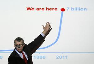 Hans Rosling i aktion.