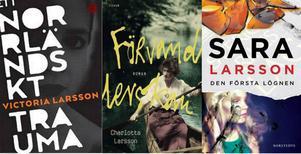 Tre romandebutanter Larsson.