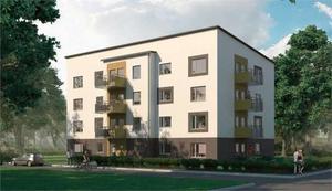 Två sådana här kombohus ska Mitthem bygga på Södermalm.