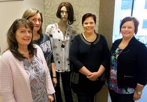 Fyra kvinnor som representerar de tre första medlemmarna i det norrländska konceptet Unika Butiker. Annika Larsson, Zimmermans skor, Carola Minicz, underklädesbutiken Strumpan, samt Catrin Jansson och Catarina Nilsson, dammodebutiken Kerstins.