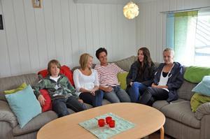"""MYSIGT. Filip Lindvall, Martina Lundqvist, """"Jocke"""" Lundqvist, Mathilda Björk och Matilda Hemström gillar att tumgås med varandra."""