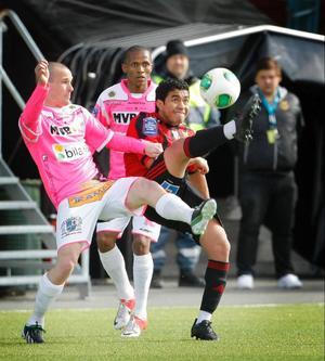 Alexis Mendiola fick 61 minuters matchtid och låg tillsammans med Thomas Boakye och Tobi Joseph bakom mycket av ÖFK:s offensiva kraft.