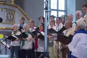 Färila kyrkokör hade förberett sig inför konserten genom att öva själva. På söndagen fick de öva tillsammans med Py Bäckman och Rune Bromberg.