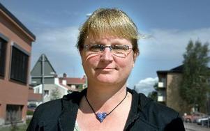 Gunilla Elings Friberg får stöd på disktrikskongressen för kravet på en konsekvensanalys av vargar i närheten av människor.Foto: Jennie-Lie Kjörnsberg