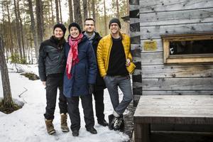 Rie Stagegaard och arkitekterna Kerstin Lagnefeldt, Martin Ehn Hillberg och Anders Tväråna är glada för det fina priset.