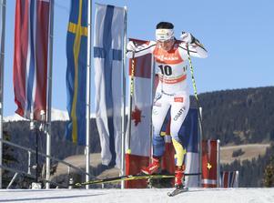 Tour de Ski. 5 etappe. 5 km kvinner induviduell start. Charlotte Kalla i aktion på 5 km