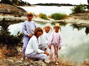 Jag, mamma, Sofia och Ulrika.
