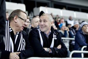 Sandviks kommunikationschef Pär Altan och koncernchef Olof Faxander hejade fram SAIK.
