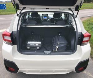 Fyrhjulsdrivningen stjäl lite plats i bagageutrymmet.