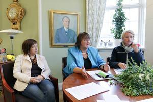Karin Thomasson (MP), AnnSofie Andersson (S) och Christina Hedin (V) berättade på tisdagen om samarbetet.