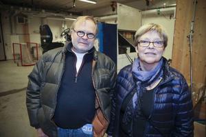 Före detta vaktmästaren Christer Engström med sin fru Lena.
