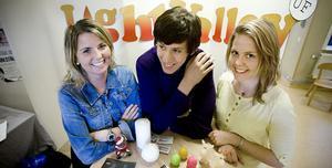 Isabelle Andersson, Marcus Jonsson och Jennifer Arvidsson som tillsammans har företaget Light Valley UF.