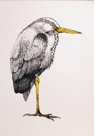 Jonas Wilhelmsson målar även i tusch på Urbn Arts