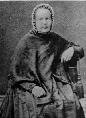 Gölin Svensson 1797 - 1880 i Tjärnvall, Färila, lär vara en av de första i bygden som lät fotografera sig.