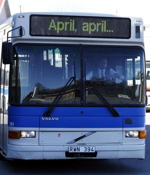 Inget aprilskämt. Från den 1 april kan den nygamla shoppingbiljetten införas för dem med tioresorskort, övergången förlängs från en timme till tre timmar. Foto: Per G Norén