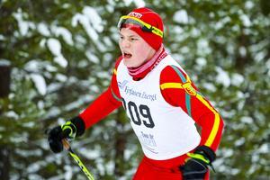 Arvid Jönsson, en av flera härjedalsungdomar som gjorde fina resultat på DM i Östersund i helgen. Bilden är från Tour de Fyrfasen.