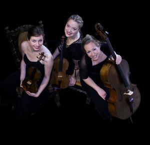 Drag kallar de tre i Lendvai String Trio sin konsert som ges i Hanebo, Hudiksvall och Ljusdal.