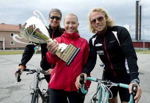 Förra årets segrare i Söråkersloppet: Linnea Larsson, Emelie Timan och Mattias Timan.