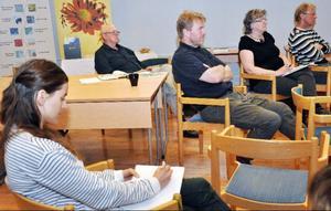 Det var glest bland åhörarna på omställningsseminariet i Undersåker.