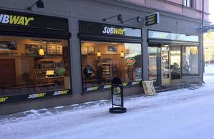 En av Subways restauranger i centrala Sundsvall har haft inbrott.