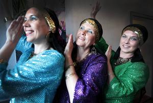 Anniken Jensen, Anki Gustavsson och Ingrid Linder dansar i föreningen Al Farah som dansar orientalisk dans.