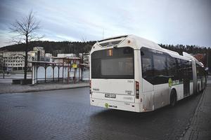 Busslinje 1 på Navet i Sundsvall.