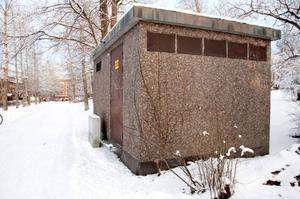 Transformatorstation – den här byggnaden måste snyggast till.