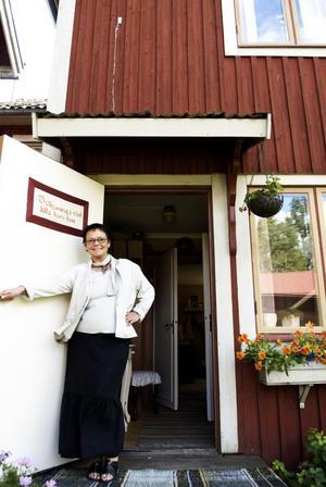 Öppet. Nu har Inger Berggren öppnat Bed and breakfast–huset i Holbacken. Foto:Stina Rapp
