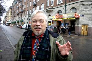 I biograf Roxys salong har Alf Rune varit många, många gånger. Errol Flynn är Affes är barndomsidol.